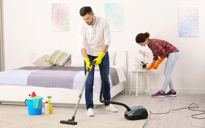 نظافت اتاق خواب